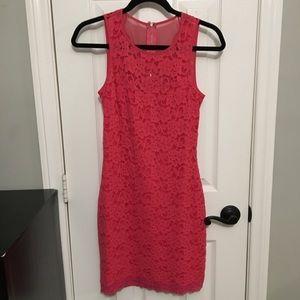 Express Hot Pink lace dress